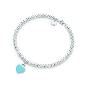 TIFFANY & CO Beaded Bracelet, Blue Heart